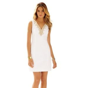 Lilly Pulitzer white gold Bentley dress size 6